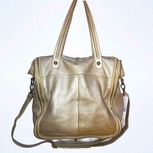 GUESS BY MARCIANO GOLD CROSSBODY BAG